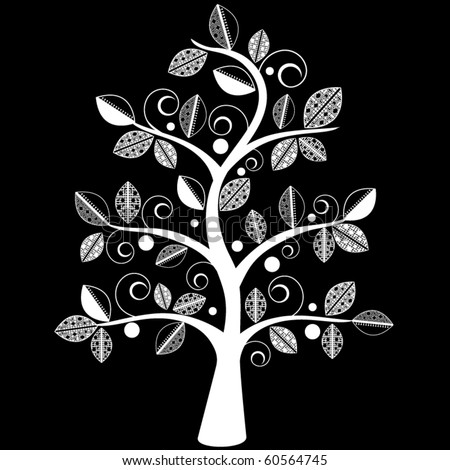 Funky tree - stock vector
