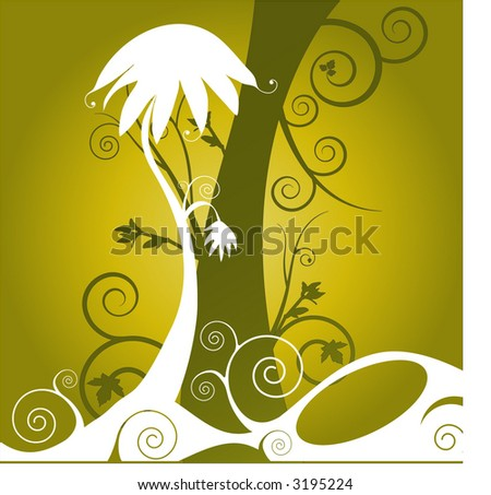 funky trees vector