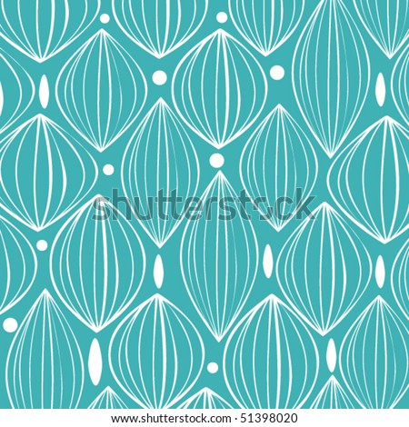 Funky wallpaper (each shape can be a different color) - stock vector