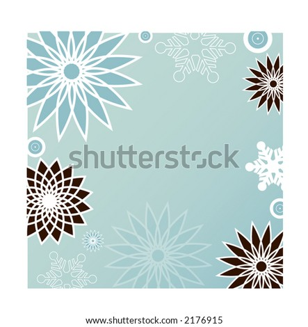 funky winter background series - stock vector