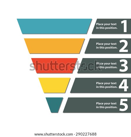 Funnel Symbol Infographic Web Design Element Stock Vector - Marketing funnel template
