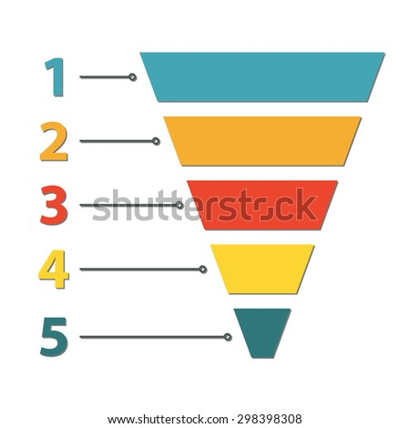 funnel symbol infographic web design element stock vector 298398308 shutterstock. Black Bedroom Furniture Sets. Home Design Ideas