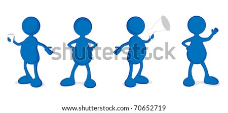 Funny abstract vector people