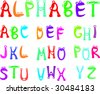 Funny alphabet for kids - stock vector