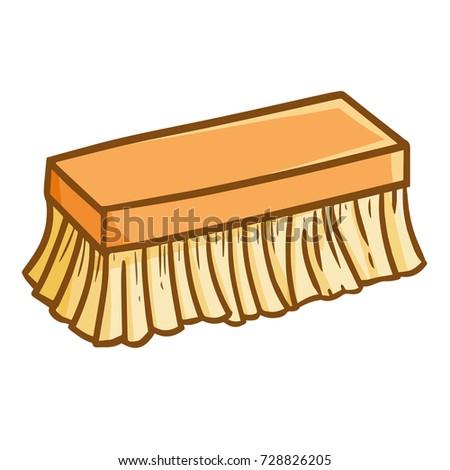 funny cute scrub brush cleaning house stock vector 728826205 rh shutterstock com Towel Clip Art Coin Clip Art