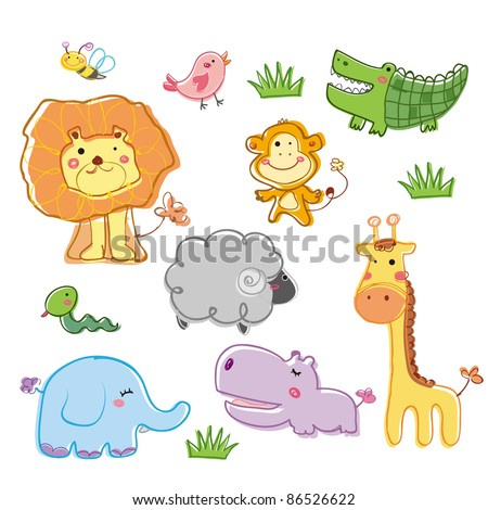 Funny animal - stock vector