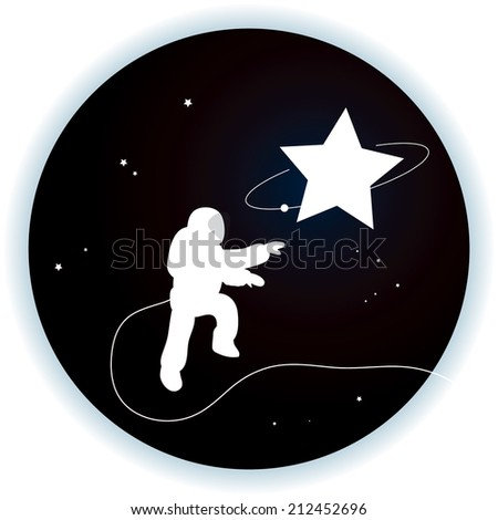 funny astronaut space walk series vector illustrate graphic art