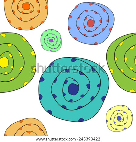 funny boulders pattern, abstract seamless texture, vector art illustration - stock vector