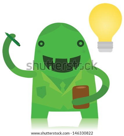 Funny Business Monster with an Idea