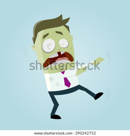 funny business zombie man - stock vector
