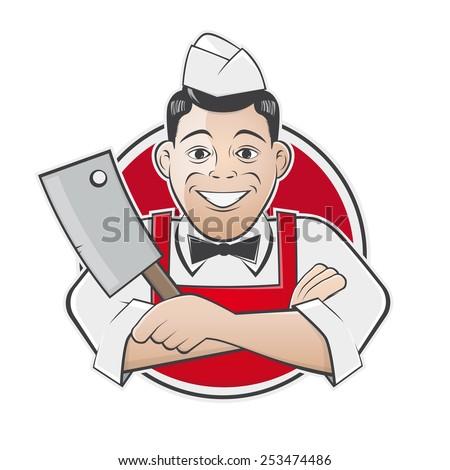 funny butcher shop sign - stock vector