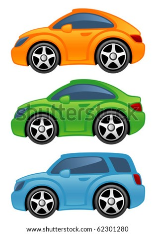 Funny car - stock vector