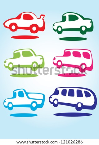 Funny cars - stock vector