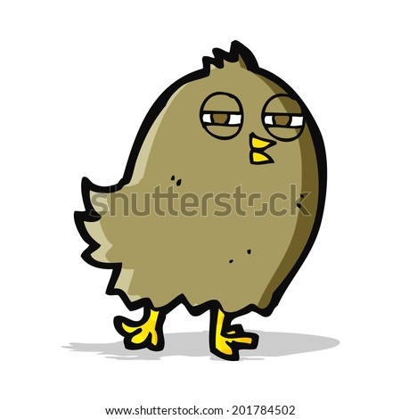 funny cartoon bird