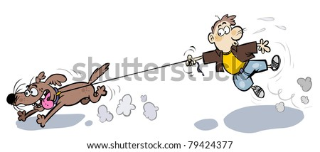 Image result for dog pulling man free clip art