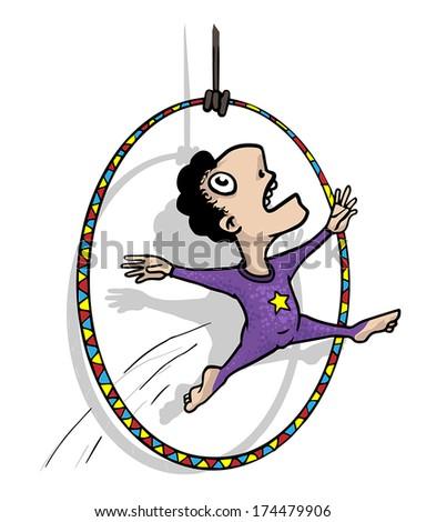 Circus acrobat cartoon - photo#25