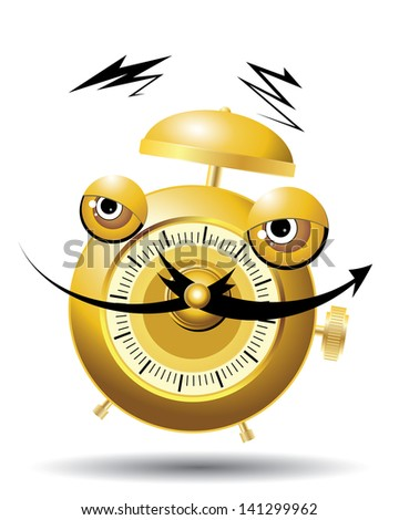 funny cartoon clock for kids