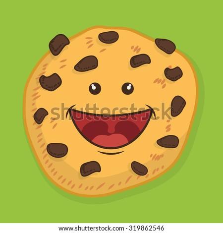 Kawaii Belgium Round Waffles Pink Cheeks Stock Vector ... Cartoon Waffle With Face