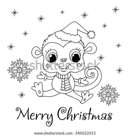 Funny cartoon hand drawn monkey face stock vector royalty free funny cartoon hand drawn monkey face new year 2016 vector illustration logo design spiritdancerdesigns Gallery