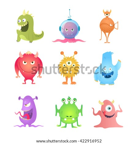 Funny Cartoon Monsters.