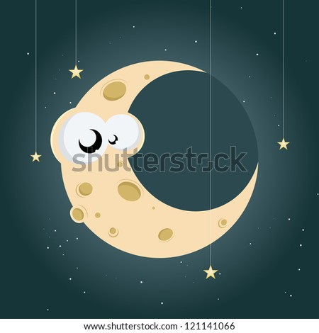 funny cartoon moon