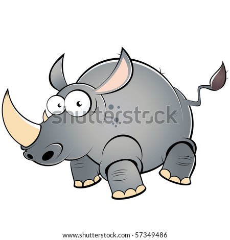 how to draw a rhino cartoon