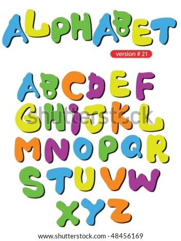 funny colorful alphabet