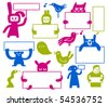 Funny Creatures - stock vector