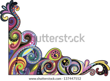 Funny curls - stock vector