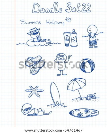 Funny Doodle Set 22 - stock vector