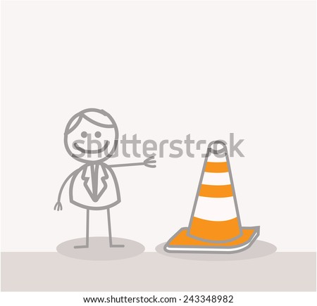 Funny Doodle : Under Construction Sign - stock vector