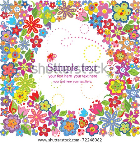 Funny easter card - stock vector