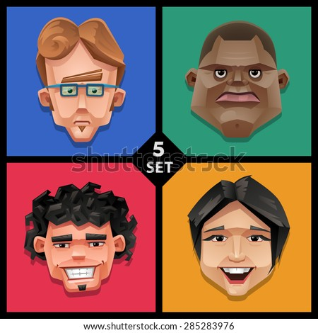 Funny face illustration-set 5