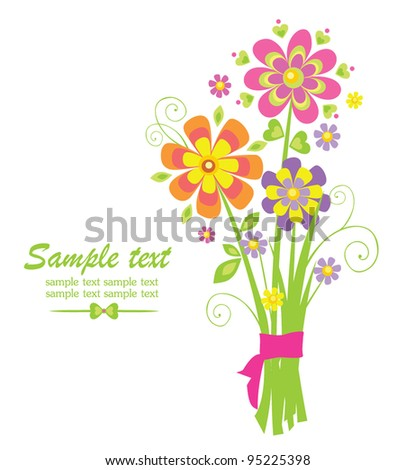Funny greeting bouquet - stock vector