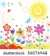 Funny greeting card - stock vector