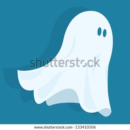 Funny halloween ghost - stock vector