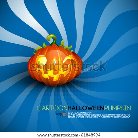 Funny Halloween Pumpkin with Big Smile | EPS10 Compatibility Needed | Objects Separated on layers named accordingly - stock vector