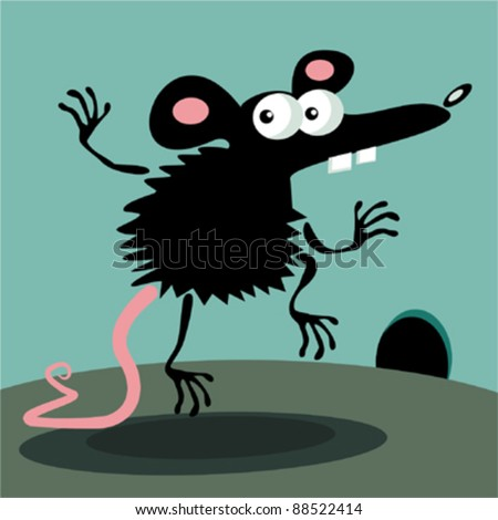 Funny Mouse Stock Vector Clipart Funny Character Little Mouse In
