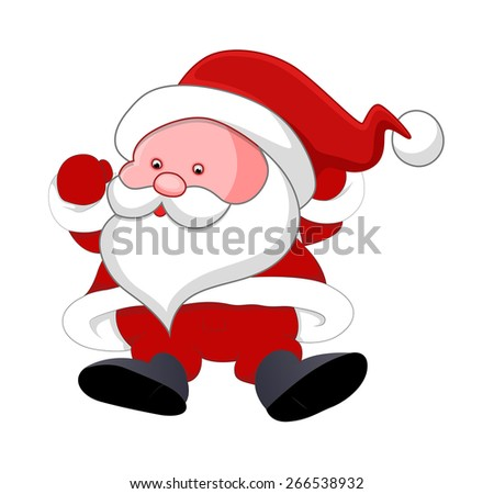 Funny Old Small Santa
