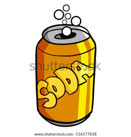 funny orange soda can vector stock vector hd royalty free rh shutterstock com  soda can drawing vector