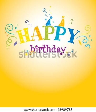 Funny Party for Birthday - stock vector
