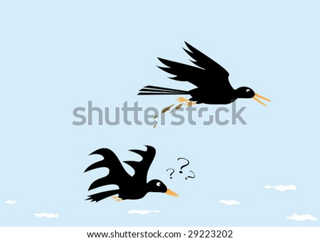 "Funny picture ""Crow is a scoundrel"". Vector illustration. - stock vector"