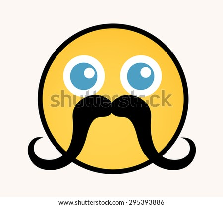 Funny Retro - Cartoon Smiley Vector Face - stock vector