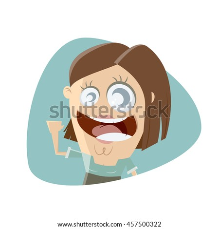 funny retro woman clipart