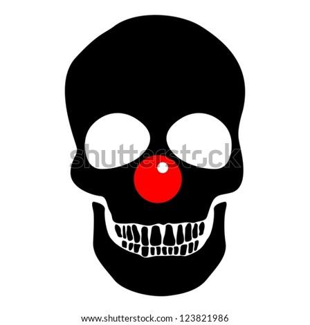 funny skull - stock vector