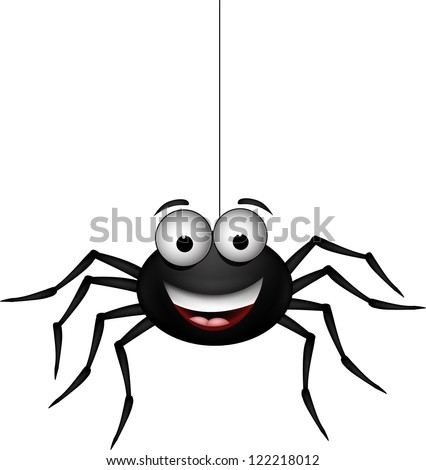 funny spider cartoon for you design - stock vector