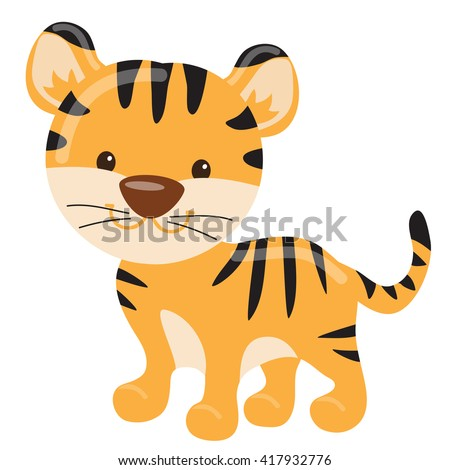 Funny tiger vector illustration