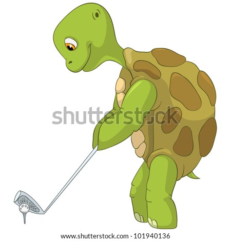 Funny Turtle - stock vector