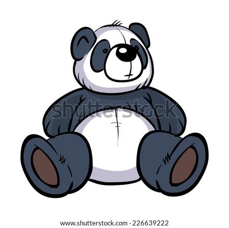 funny vector cartoon colorful panda isolated stock vector 226639222