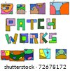 Funny vector patches. - stock vector